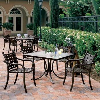 patio cross strap furniture