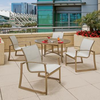 contemporary sling outdoor furniture