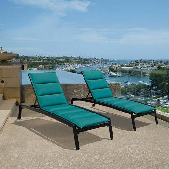 modern outdoor padded sling lounge